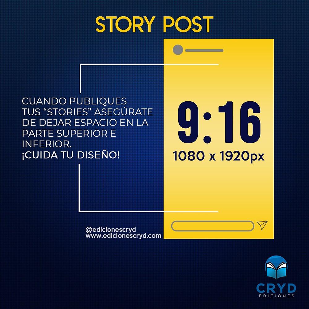 Medida de imagen para los Story Post