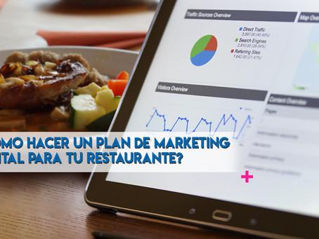 ¿Cómo hacer un plan de marketing digital para tu restaurante?