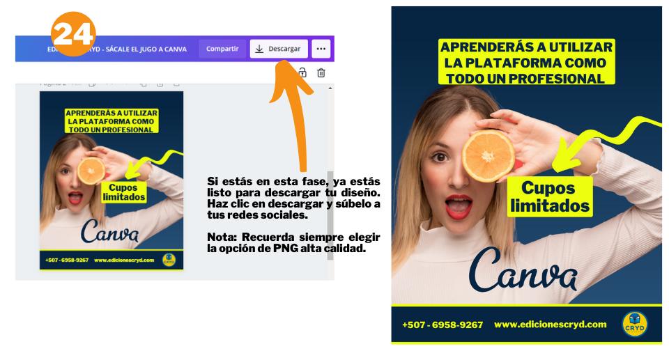 Cómo crear un post de Instagram en Canva - Paso 24