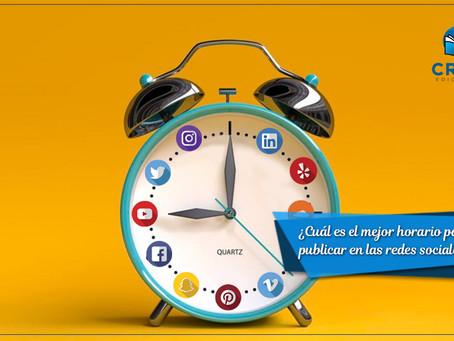 ¿Cuál es el mejor horario para publicar en las redes sociales?