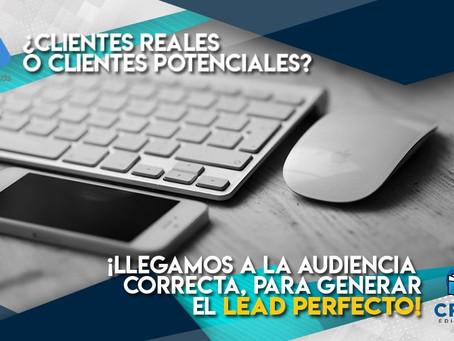 ¿Clientes potenciales o clientes reales?