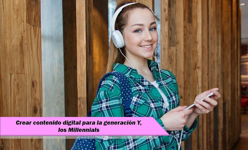 mujer niña millennials