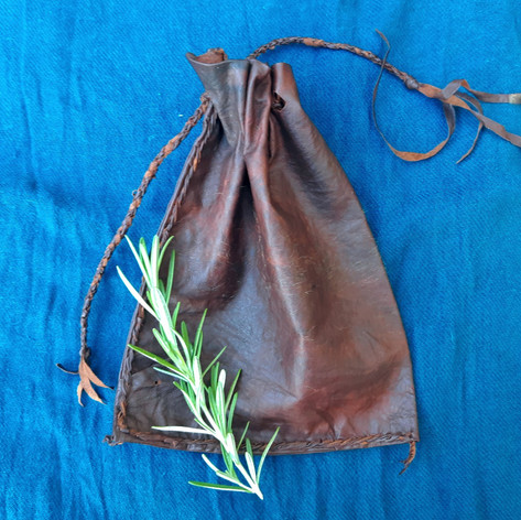 possum leather pouch
