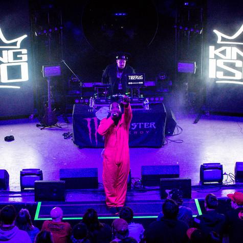 King Iso + Tiberias The Orpheum Theater Madison, WI  Photo Credit Instagram: @bryanmccabephotography  Planet Tour Lineup  Tech N9ne w/ Krizz Kaliko Just Juice w/ DJ Raz Joey Cool w/ DJ Tiberias King Iso w/ King Kash & DJ Tiberias