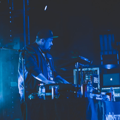 Tiberias Solo DJ Set New Daisy Theatre Memphis, TN  Photo Credit Instagram: @jasondomingues  Planet Tour Lineup Tech N9ne w/ Krizz Kaliko Just Juice w/ DJ Raz Joey Cool w/ DJ Tiberias King Iso w/ King Kash & DJ Tiberias