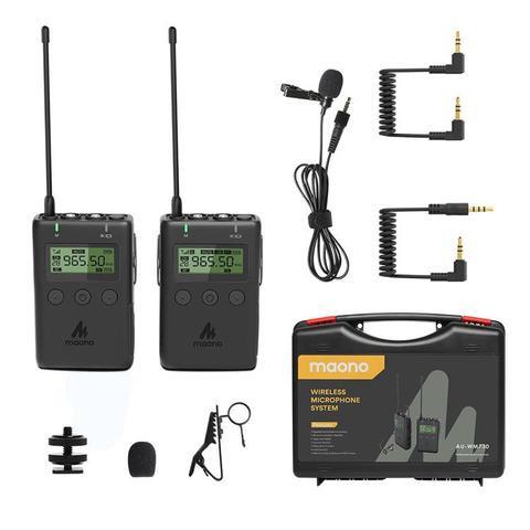 Maono AU-WM730 wireless lavalier lapel microphone system