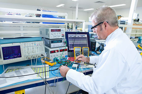 An expert engineer working at the electr