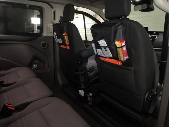 Inside the van