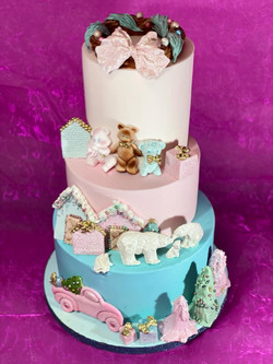 Wedding cake pour baby shower
