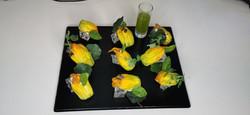 Fleur de courgette a la ricotta et extrait huile de menthe 2