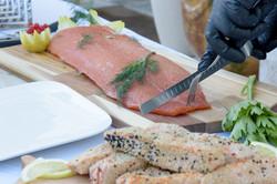 0 Atelier froid  samon gravelax & tataki saumon 3