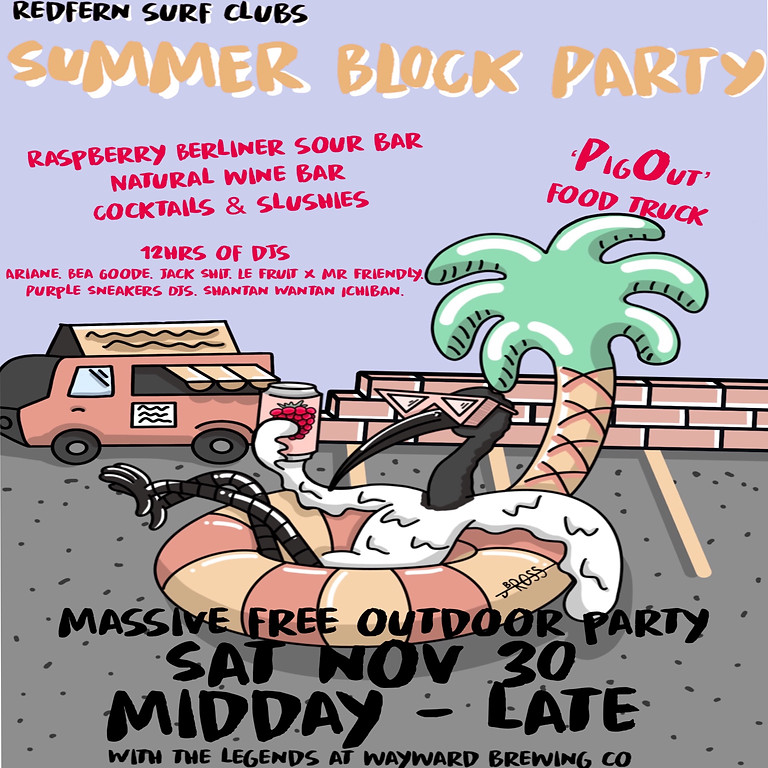 Summer Block Party @ Redfern Surf Club