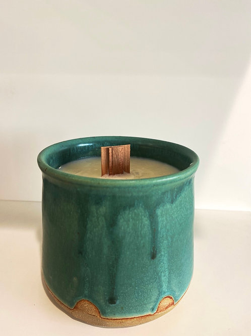 Candle + Clay mug