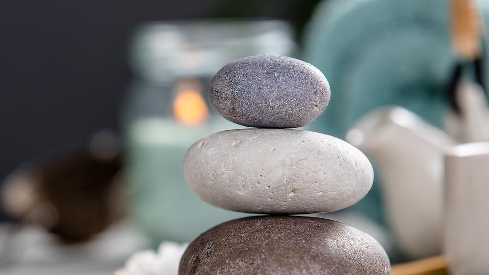 balance and harmony stones stacked