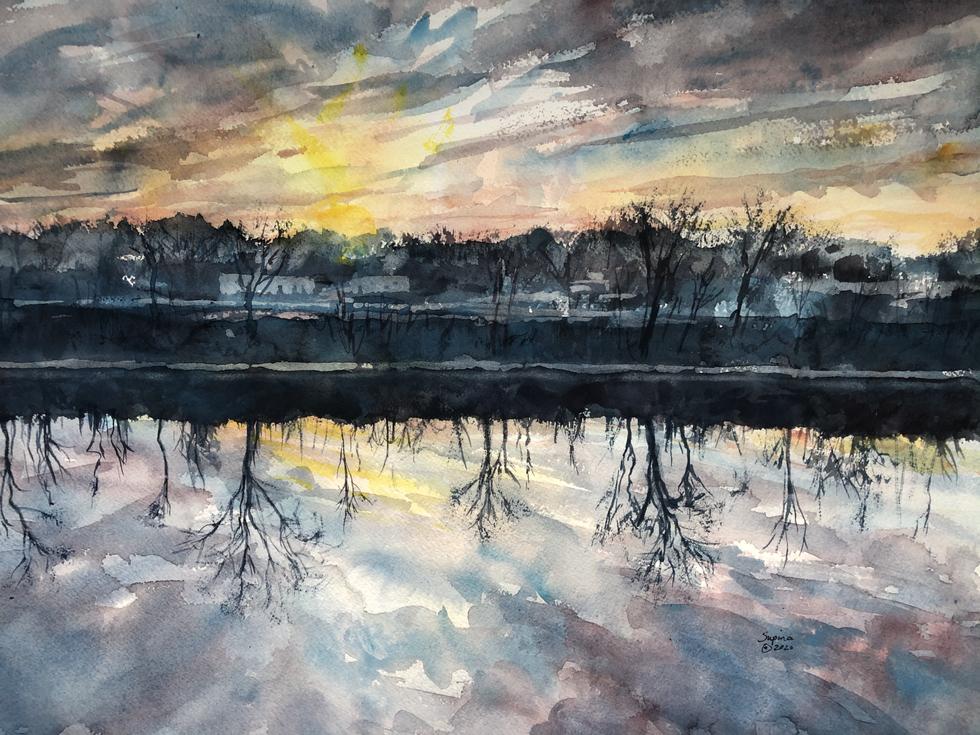 44. Mohawk River Sunrise