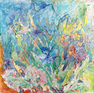 Bird with Blue flower