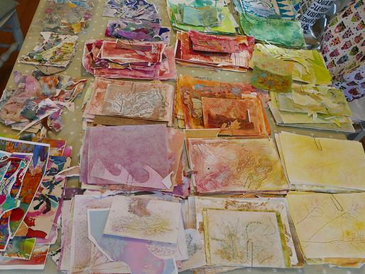 Organising my Collage Materials