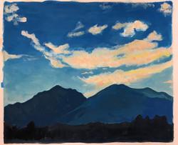 田舎の山々