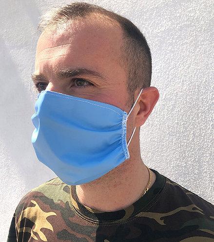 Mascherina con elastico tondo indossata
