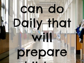 5 Activities Parents Can do Daily to Prepare Children for School