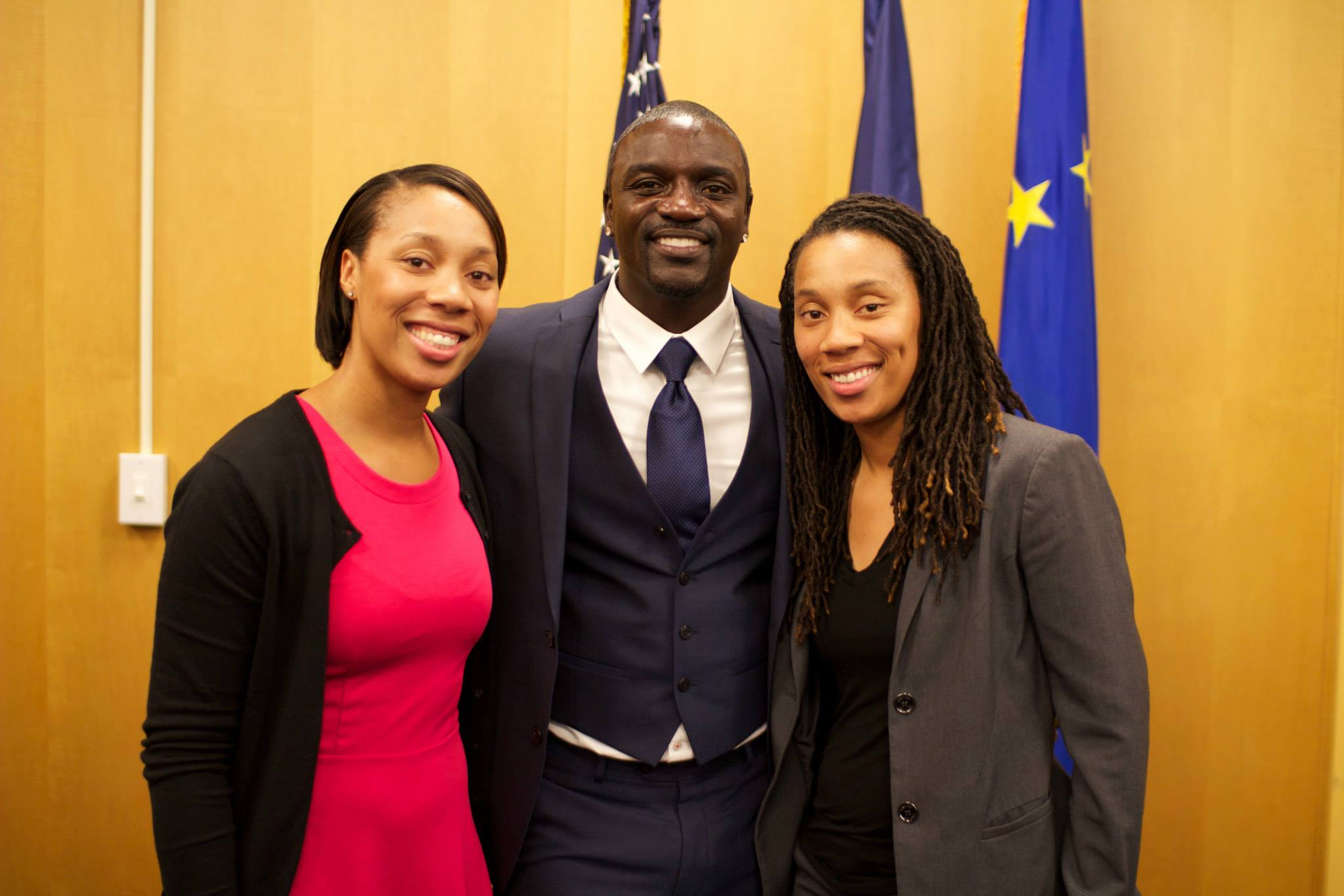 Tina and Trina with Akon