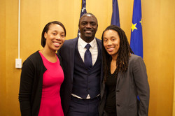 Tina and Trina with Akon