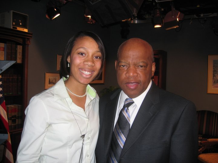 Tina with Congressman John Lewis