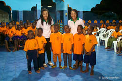 Tina and Trina in Benin