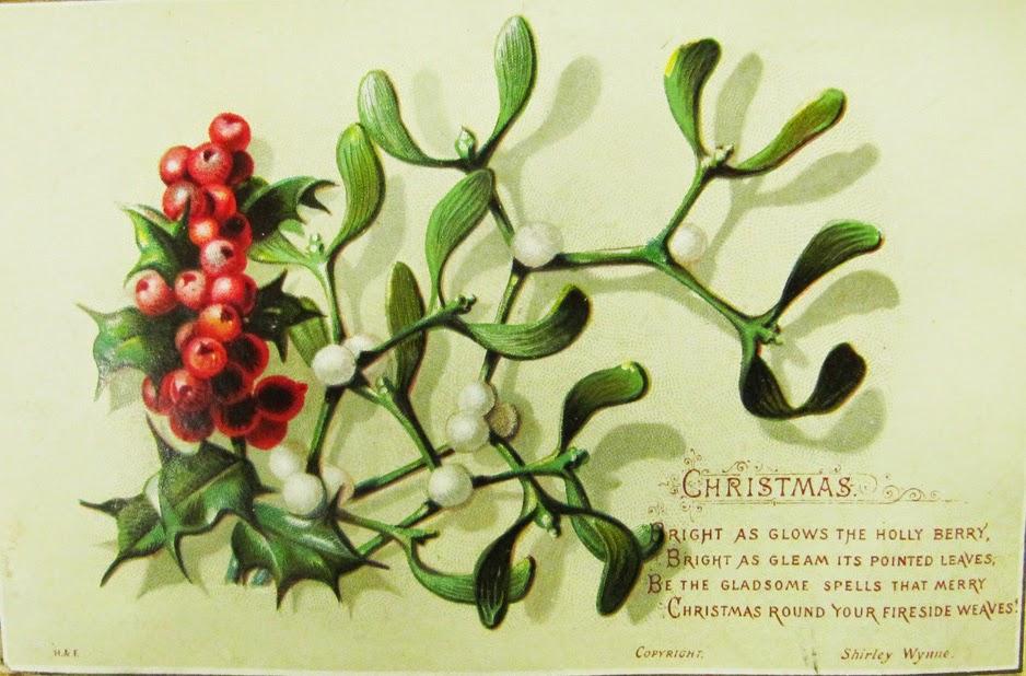 Workshop botanische kerstkaart, olv Hilde Orye