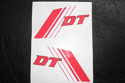 Yamaha DT Red & White tank stickers B