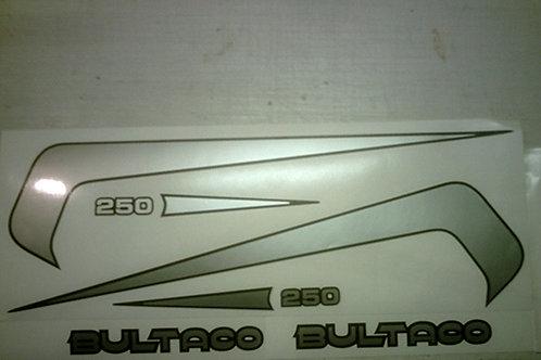 Bultaco Sherpa 250, 325 or 350 tank & side panel sticker kit