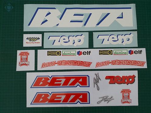 Beta Zero sticker kit 1990