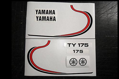 Yamaha TY 175 tank decal kit