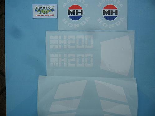 Montesa MH200 tank & side panel sticker kit