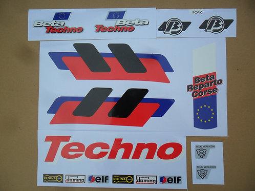 Beta Techno 1995 sticker kit