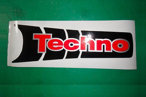 Beta Techno rear mudguard sticker