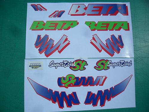 Beta TR34 Supertrial decal kit - Air cooled monoTrials