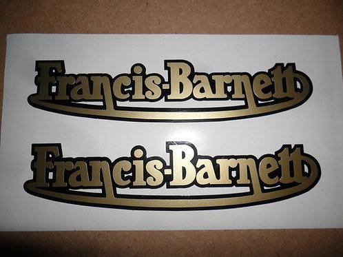 Francis Barnett adhesive vinyl tank stickers