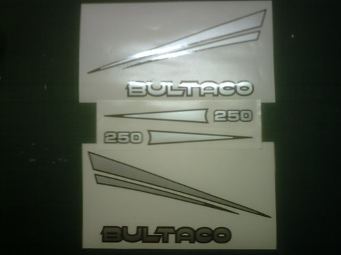 Bultaco 250 sticker kit A.