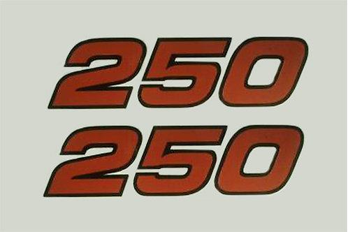 Yamaha TY 250 Trials mono side panel decals