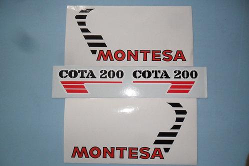 Montesa 200 sticker kit