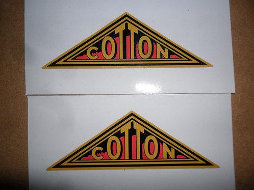 Adhesive vinyl Cotton tank stickers
