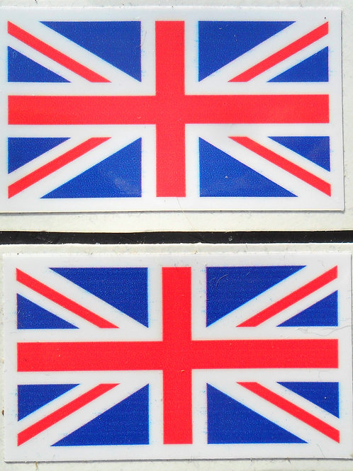 Union Jack tank/universal stickers: x 3 sizes