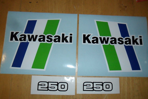 Kawasaki KLR250 Tank stickers