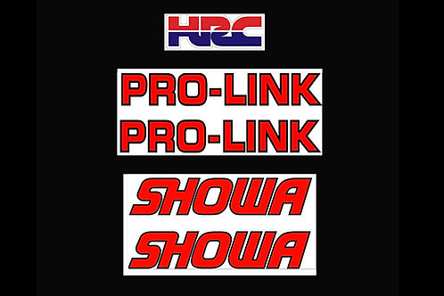 Honda Showa fork decals & Pro-Link swinging arm decals -aircooled mono trials