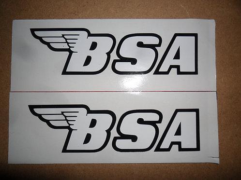 BSA adhesive vinyl tank stickers