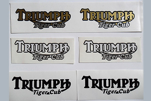 Triumph Tiger Cub tank decals