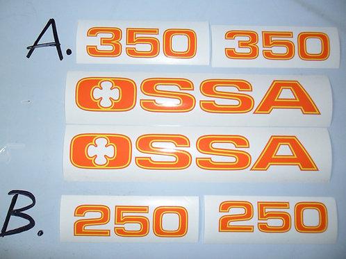 Ossa TR77 Tank & side panel sticker kit