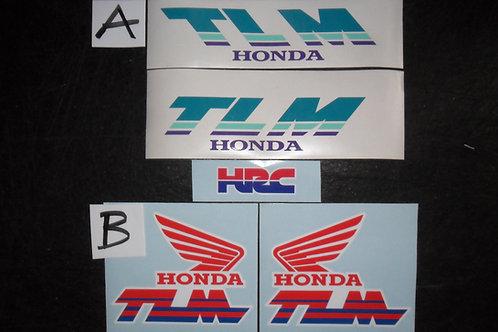 Honda TLM260R 1989 air cooled mono trials tank stickers trials