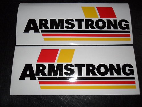 Armstrong logo tank stickers